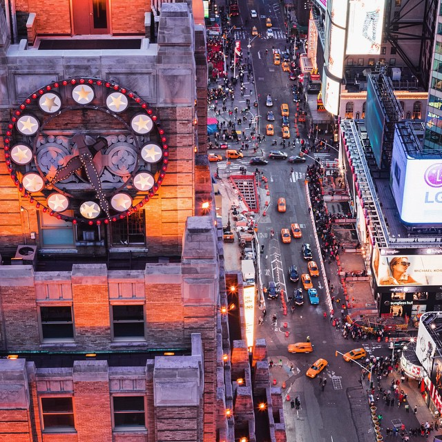 Last night's view of #timessquare #nyc