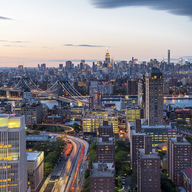 The view from Downtown Brooklyn shot a few nights ago for @ctc.creative