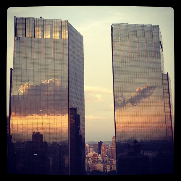 Time Warner center reflection #nycbuildings #architecture #firstedit